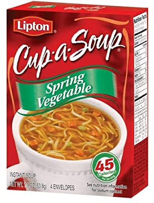 Lipton Cup-A-Soup Spring Vegetable - 4 ct
