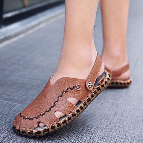 Xing Lin Flip Flop De La Playa Nuevo Hombre De Sandalias De Playa De Doble Uso Zapatos Verano Hombres Transpirable Zapatos Casual Zapatillas Sandalias Zapatos Marea De Hombres brown