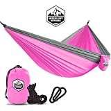 Kids Hammock for Camping The Kid Child Toddler or Gear Sling Hammocks - Perfect Small Size for Indoor Outdoor or Backyard - Portable Parachute Nylon - 8 Colors!