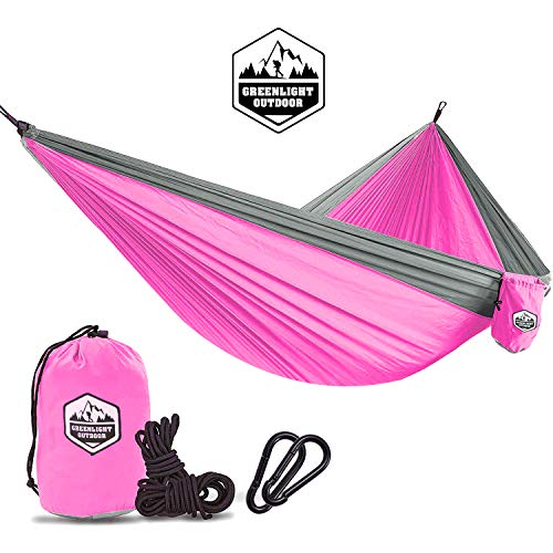 Kids Hammock for Camping The Kid Child Toddler or Gear Sling Hammocks - Perfect Small Size for Indoor Outdoor or Backyard - Portable Parachute Nylon - 8 Colors! by Greenlight Outdoor