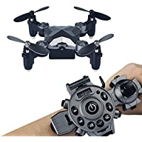 Megadream 2.4G Watch Style Remote Control Drone, 4CH 4 Axis Mini Foldable RC Quadcopter Toy with 0.3MP WIFI FPV Camera – Pocket Size, Storage Case Included for Gifts, Kids, Back to School Present