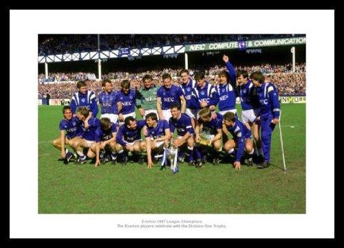 Framed Everton 1987 League Champions Team Photo Memorabilia Home of Legends