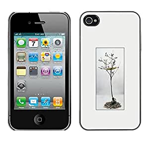 LECELL--Funda protectora / Cubierta / Piel For Apple iPhone 4 / 4S -- Tree Green Lifestyle Nature Love Mother Earth --