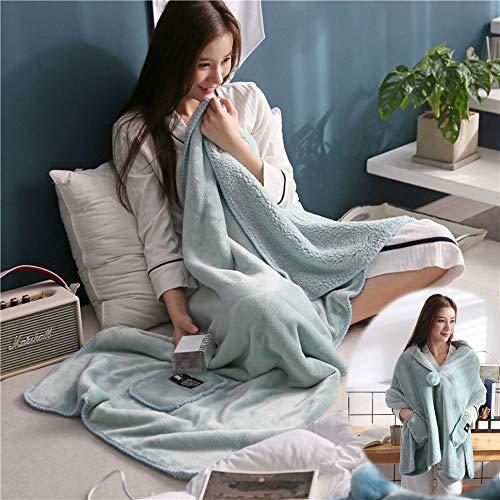 Wearable Fleece Blanket, Office Shawl Blanket, School Blanket Nap, Wrap Around Blanket, Throws and Blankets for Sofa, Blanket Wrap Shawl, Desk Blanket Wrap (26 x 68 inch)
