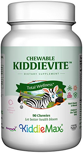 Chewable Tablets Bubble Gum (Maxi Health Chewable KiddieVite - Multivitamins & Minerals - Bubble Gum Flavor - 90 Chewies - Kosher)