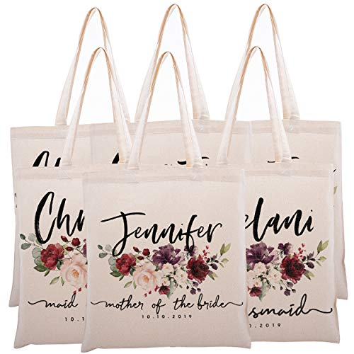 Personalized Tote Bag For Bridesmaids Wedding Customized Bachelorette Party Bag]()