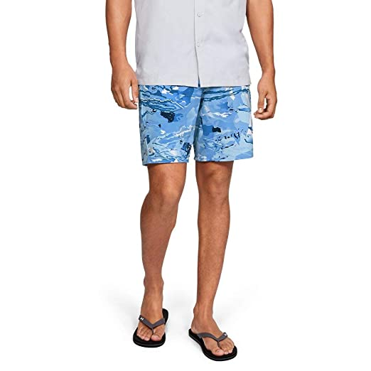 1120d79abb Image not available for. Color: Under Armour Outerwear Mens Shoreman  boardshort, Usa Blue Hydro Camo//Elemental, 32