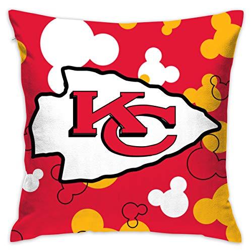 Jerrymoaus Kansas City Chiefs Cartoon Mouse, Zipper Pillowcase, Sofa Pillowcase, Office Pillowcase (17.7