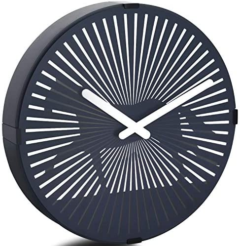 Betus 12 Inches Non-Ticking Optical Illusion Wall Clock – Animated Zoetrope Wall Clock for Office, Bedroom and Living Room – Battery Operated – Galloping Horse