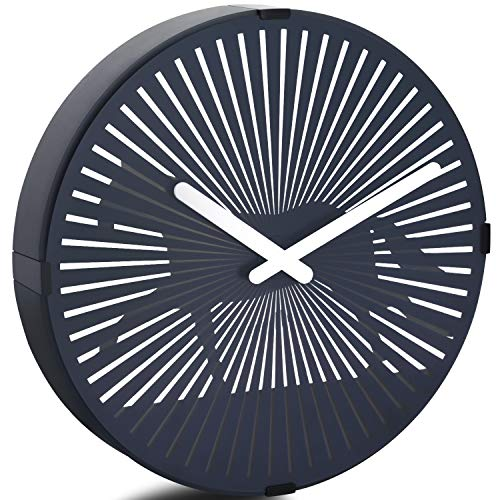 - Betus 12 Inches Non-Ticking Optical Illusion Wall Clock - Animated Zoetrope Wall Clock for Office, Bedroom and Living Room - Battery Operated - Galloping Horse