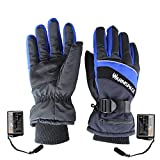 Yiding Outdoor Electric Battery Heated Gloves, USB Rechargeable Super Warm Waterproof&Windproof Skiing Cycling Gloves