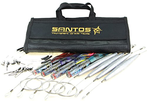 Santos Tournament Grade Tackle Wahoo Light Offshore Big Game Trolling Lure Pack by Santos Tournament Grade Tackle