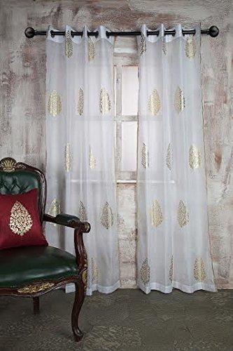 SHEER CURTAIN WHITE TREE PRINT DOOR & Buy SHEER CURTAIN WHITE TREE PRINT DOOR Online at Low Prices in ...
