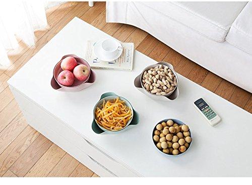 Astra Gourmet Double Dish Nut Bowl/ Pistachio Bowl/ Pedestal Snack Dish/ Olive Nut Server Serving Bowl(Biege)