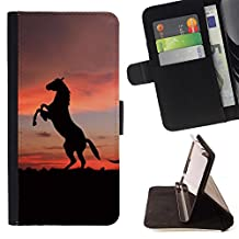 For Samsung Galaxy Note 4 IV,S-type Cute animals horse - Drawing PU Leather Wallet Style Pouch Protective Skin Case