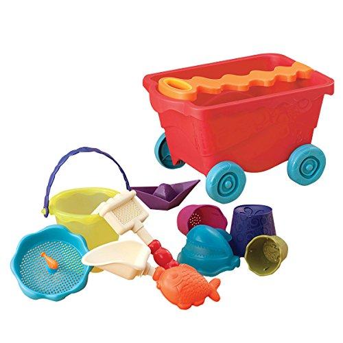 B. Toys 44224 - Travel Beach Wagon, tomato