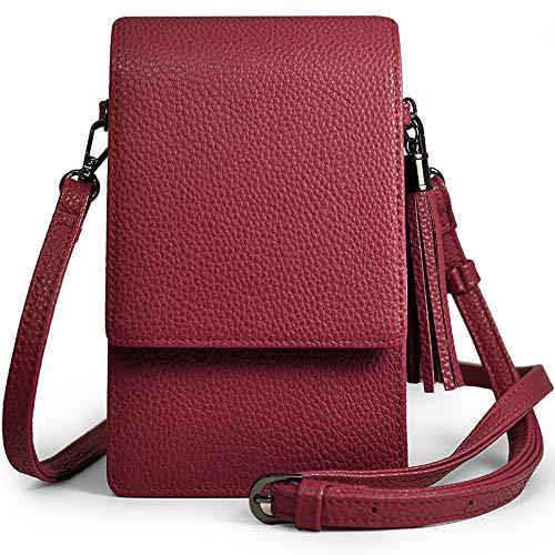 Small Crossbody Bag Cell Phone Purse Wallet Lightweight Roomy Travel Passport Bag Crossbody Handbags for Women (Berry Handbags For Women)