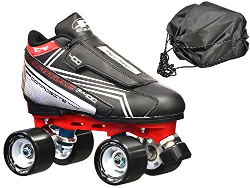 New! Pacer Tarmac F-400 Quad Roller Speed Skates w/Free Drawstring Bag! (Mens -