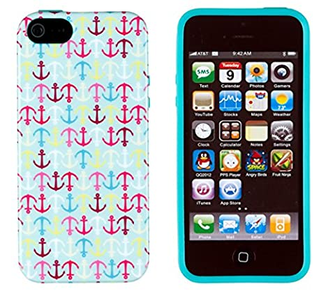 iPhone 4S Case, DandyCase PERFECT PATTERNNo Chip/No Peel Flexible Slim Case Cover for Apple iPhone 4S / 4 [Colorful Nautical (Iphone 4 Case Preppy)