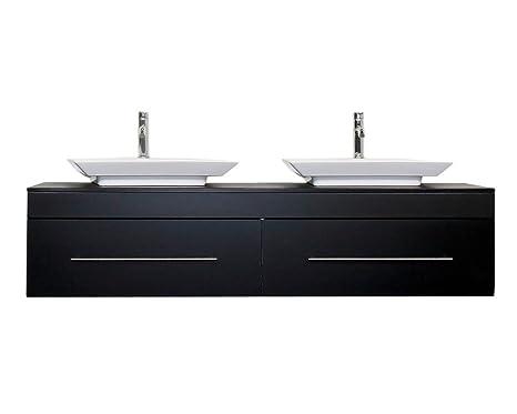 Lavandino Con Mobiletto Cucina : Emotion pegasus xl mobile da bagno colore nero lucido con