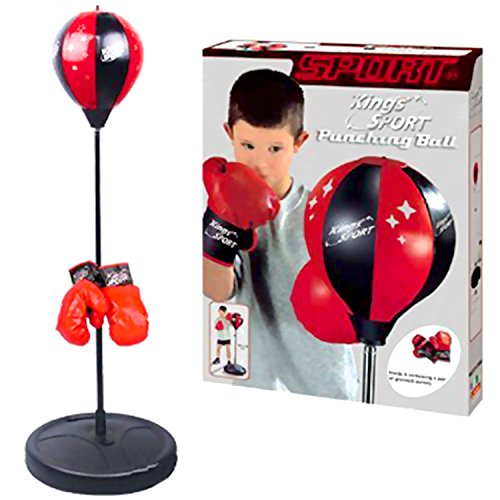 """Sport Boxing Punching Bag for kids With Stand & Boxing Gloves. This Punching Ball for Kids 43"""" H Will be the Best Gift Toy for Boys age 6 - 20 yrs old"""