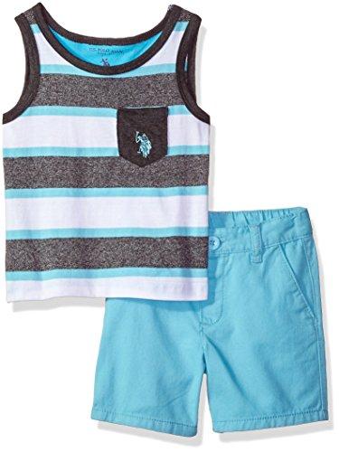 U.S. Polo Assn. Baby Boys Tank and Short Set