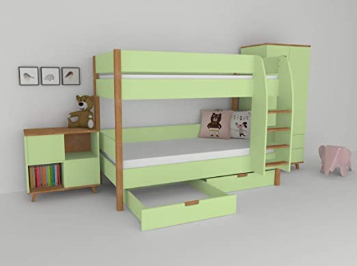Etagenbetten Kinderzimmer : Mobi etagenbett kinderzimmer colorland: amazon.de: küche & haushalt
