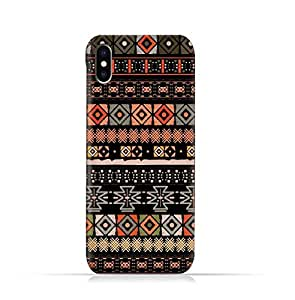 Apple iPhone X TPU Silicone Protective Case with Ethnic Boho seamless Pattern Design