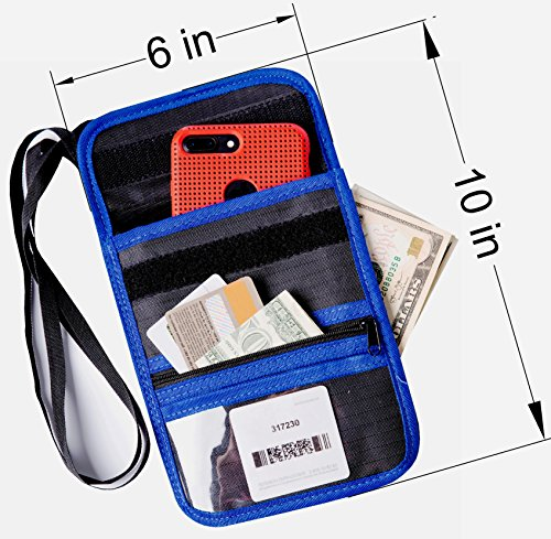 Travel Wallet Passport Holder Neck Pouch RFID Protect Document Organizer Ticket