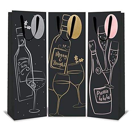 feste e compleanni per vini e liquori 12x Design 6 8910 disponibili in molte fantasie per tutte le occasioni: Natale 12/buste regalo per bottiglia