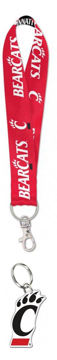 Bundle 2 Items: Cincinnati Bearcats 1 Key Strap Key Chain and 1 Premium Key Ring/Zipper Pull