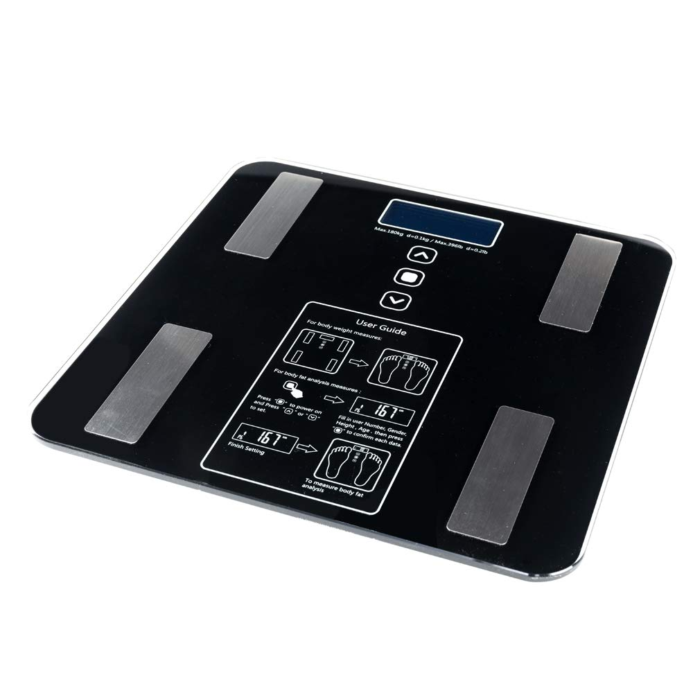 Quklei Digital Body Fat Scale, Unisex Weight Scale Health Analyser Fat Muscle BMI Black (US Stock) by Quklei (Image #3)