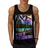 Holiday Dream Island Leaving Men NEW Black S-2XL Tank Top | Wellcoda