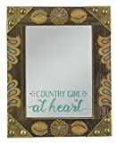 Young's Inc. Wood Country Girl Mirror