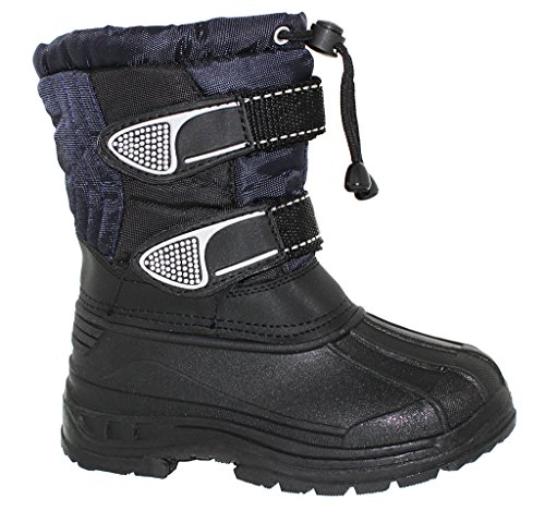 Resistant with Two Strap YOUTH Water Navy Pull Toggle Boot Raq5aBxz