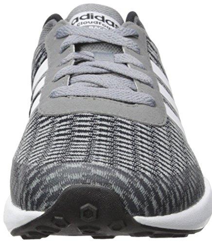 Scarpa Da Corsa Adidas Neo Uomo Cloudfoam Nero / Bianco / Grigio