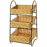 Retail Resource 3 Tier Basket Display, 12 x 12.5 x