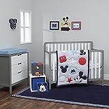 Cheap Baby Cribs Disney Amazing Mickey Mouse 3 Piece Nursery Crib Bedding Set, Grey, Navy, Red, Blue