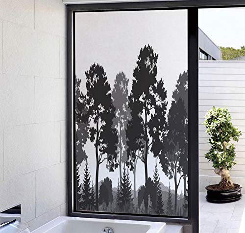 YOLIYANA Decorative Glass Window Film No Glue Privacy Window Cling 3D Black and White Decorations Glass Stickers for Doors, Cabinet, Bathroom 17