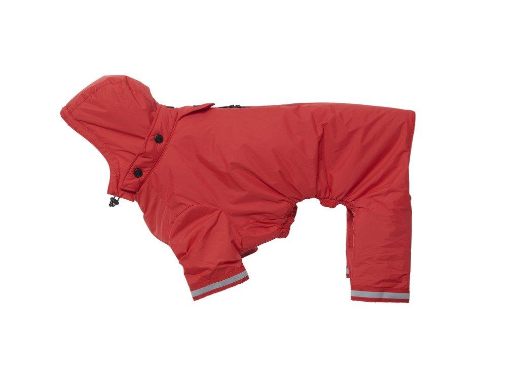 Kruuse Buster Aqua Dog Raincoat, Red, Medium