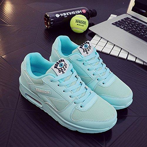 NGRDX&G Señoras Plana Calzado Deportivo Transpirable Damas Casual Zapatos Zapatos Deportivos mesh blue