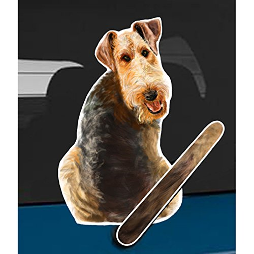 Wagging Wipers Airedale Terrier Dog Car Rear Wiper Sticker Decal
