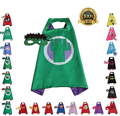 Super hero Cape and Mask, Children, Boys, Girls Dress Up Costume ()