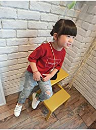 Kebaner Boys Girls Ripped Jeans Pants Vintage Soft Pockets Children Fashion Pants (3T)