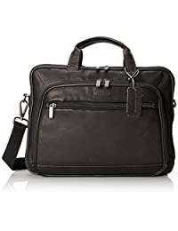 Kenneth Cole Reaction Leather Convertible Portfolio, Black, One Size