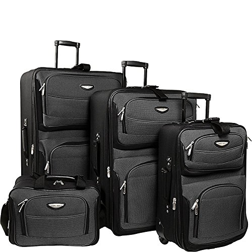 Traveler's Choice Amsterdam 4-Piece Luggage Set, Grey by Traveler's Choice