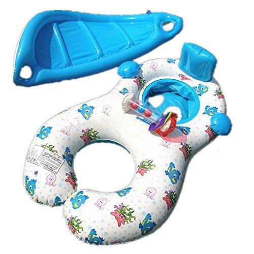 Flotadores hinchables para dos personas (mamá y bebé), piscina hinchable retráctil y extraíble, flotador de piscina para bebé, asiento flotante para bebé de ...