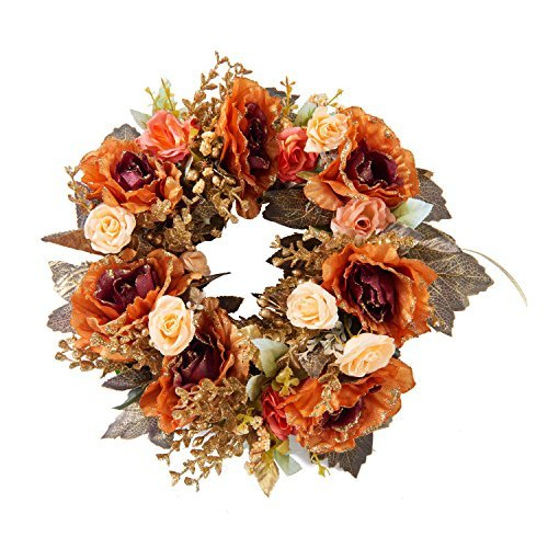 Flower Wreath Handmade Home Wall Decor Vintage type by LOUHO (Image #1)