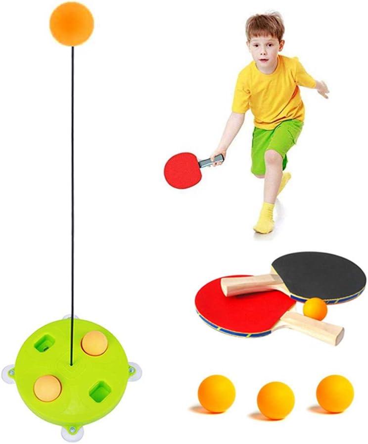 Volwco Entrenador de Tenis de Mesa para Interiores y Exteriores, para Adultos, Adolescentes/niños, Juguete elástico Suave para Entrenamiento de Pelotas de Ping Pong