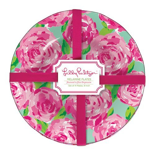 Lilly Pulitzer Melamine Plate Set - First Impression - 4 ct